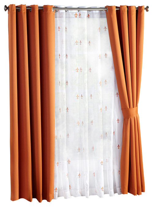 Orange Blackout Window Curtain