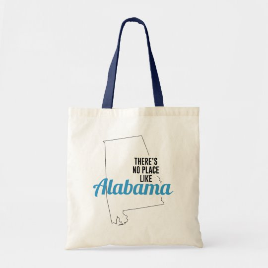 There is No Place Like Alabama Tote Bag, Alabama State Holiday Christmas, Alabama Canvas Grocery Shopping Reusable Bag, Alabama Home Base by Clotee.com There is No Place Like Home
