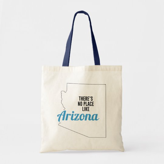 There is No Place Like Arizona Tote Bag, Arizona State Holiday Christmas, Arizona Canvas Grocery Shopping Reusable Bag, Arizona Home Base by Clotee.com There is No Place Like Home