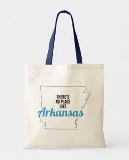 There is No Place Like Arkansas Tote Bag, Arkansas State Holiday Christmas, Arkansas Canvas Grocery Shopping Reusable Bag, Arkansas Home Base by Clotee.com There is No Place Like Home