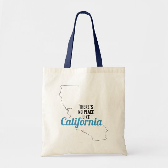 There is No Place Like California Tote Bag, California State Holiday Christmas, California Canvas Grocery Shopping Reusable Bag, California Home Base by Clotee.com There is No Place Like Home