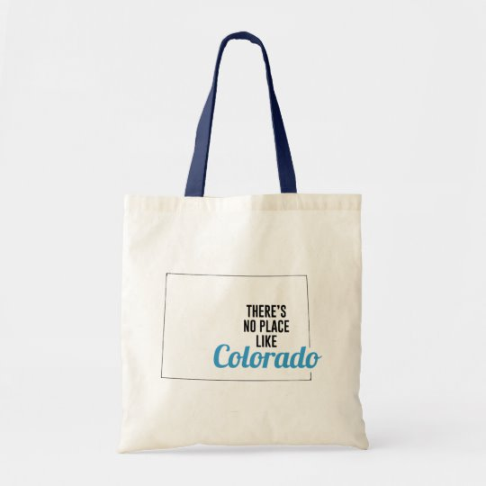 There is No Place Like Colorado Tote Bag, Colorado State Holiday Christmas, Colorado Canvas Grocery Shopping Reusable Bag, Colorado Home Base by Clotee.com There is No Place Like Home