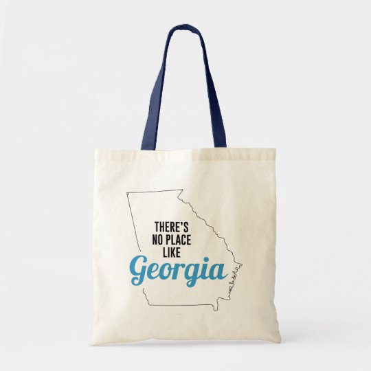 There is No Place Like Georgia Tote Bag, Georgia State Holiday Christmas, Georgia Canvas Grocery Shopping Reusable Bag, Georgia Home Base by Clotee.com There is No Place Like Home