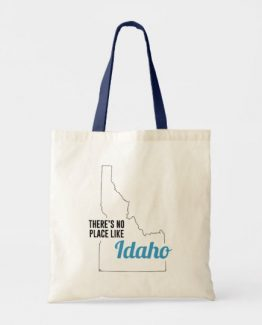 There is No Place Like Idaho Tote Bag, Idaho State Holiday Christmas, Idaho Canvas Grocery Shopping Reusable Bag, Idaho Home Base by Clotee.com There is No Place Like Home