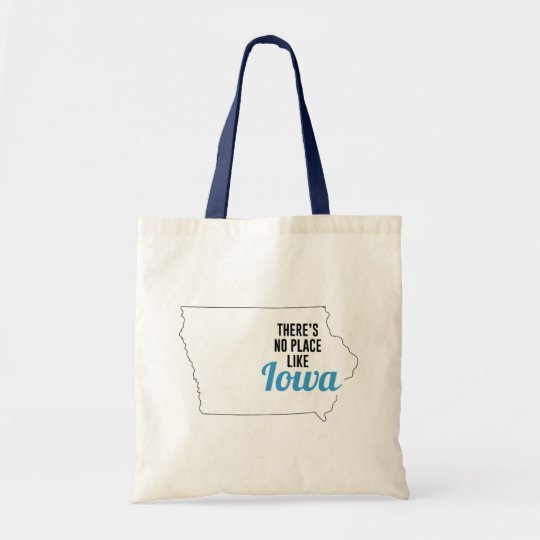 There is No Place Like Iowa Tote Bag, Iowa State Holiday Christmas, Iowa Canvas Grocery Shopping Reusable Bag, Iowa Home Base by Clotee.com There is No Place Like Home