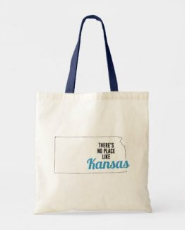 There is No Place Like Kansas Tote Bag, Kansas State Holiday Christmas, Kansas Canvas Grocery Shopping Reusable Bag, Kansas Home Base by Clotee.com There is No Place Like Home