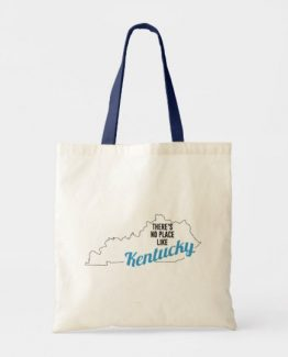There is No Place Like Kentucky Tote Bag, Kentucky State Holiday Christmas, Kentucky Canvas Grocery Shopping Reusable Bag, Kentucky Home Base by Clotee.com There is No Place Like Home