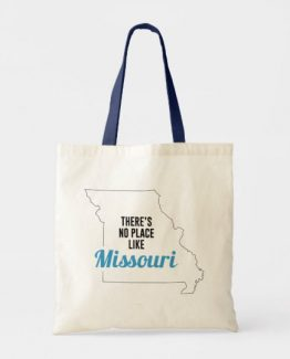 There is No Place Like Missouri Tote Bag, Missouri State Holiday Christmas, Missouri Canvas Grocery Shopping Reusable Bag, Missouri Home Base by Clotee.com There is No Place Like Home