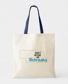 There is No Place Like Nebraska Tote Bag, Nebraska State Holiday Christmas, Nebraska Canvas Grocery Shopping Reusable Bag, Nebraska Home Base by Clotee.com There is No Place Like Home