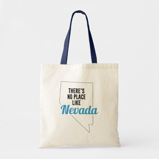 There is No Place Like Nevada Tote Bag, Nevada State Holiday Christmas, Nevada Canvas Grocery Shopping Reusable Bag, Nevada Home Base by Clotee.com There is No Place Like Home