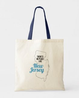 There is No Place Like New Jersey Tote Bag, New Jersey State Holiday Christmas, New Jersey Canvas Grocery Shopping Reusable Bag, New Jersey Home Base by Clotee.com There is No Place Like Home