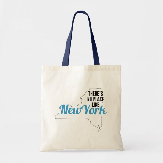 There is No Place Like New York Tote Bag, New York State Holiday Christmas, New York Canvas Grocery Shopping Reusable Bag, New York Home Base by Clotee.com There is No Place Like Home