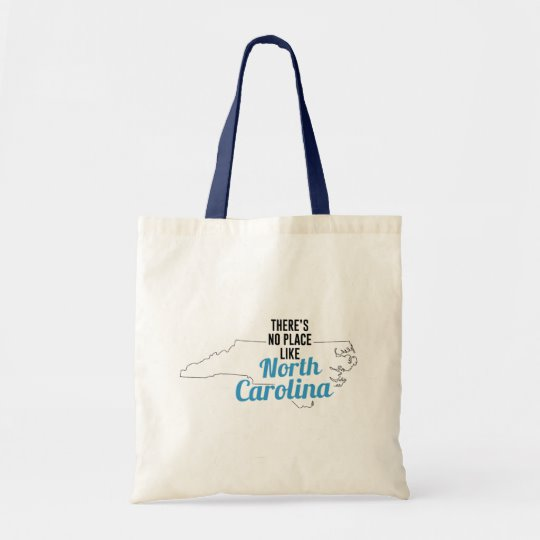 There is No Place Like North Carolina Tote Bag, North Carolina State Holiday Christmas, North Carolina Canvas Grocery Shopping Reusable Bag, North Carolina Home Base by Clotee.com There is No Place Like Home