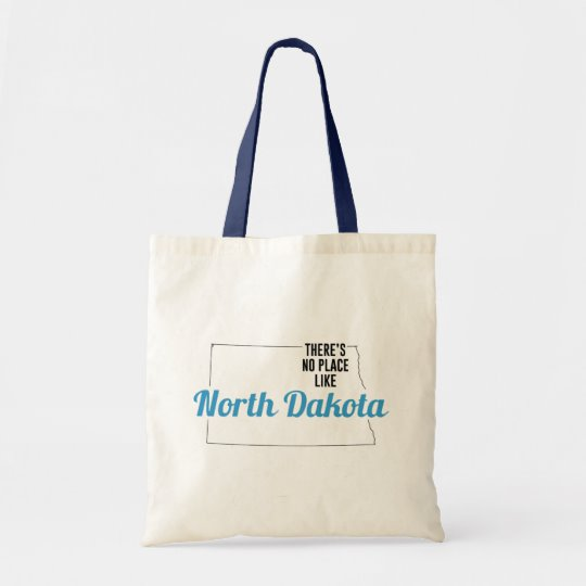 There is No Place Like North Dakota Tote Bag, North Dakota State Holiday Christmas, North Dakota Canvas Grocery Shopping Reusable Bag, North Dakota Home Base by Clotee.com There is No Place Like Home