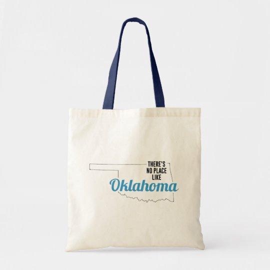 There is No Place Like Oklahoma Tote Bag, Oklahoma State Holiday Christmas, Oklahoma Canvas Grocery Shopping Reusable Bag, Oklahoma Home Base by Clotee.com There is No Place Like Home
