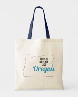 There is No Place Like Oregon Tote Bag, Oregon State Holiday Christmas, Oregon Canvas Grocery Shopping Reusable Bag, Oregon Home Base by Clotee.com There is No Place Like Home