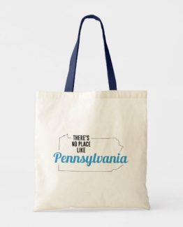 There is No Place Like Pennsylvania Tote Bag, Pennsylvania State Holiday Christmas, Pennsylvania Canvas Grocery Shopping Reusable Bag, Pennsylvania Home Base by Clotee.com There is No Place Like Home