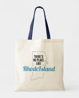 There is No Place Like Rhode Island Tote Bag, Rhode Island State Holiday Christmas, Rhode Island Canvas Grocery Shopping Reusable Bag, Rhode Island Home Base by Clotee.com There is No Place Like Home