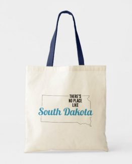 There is No Place Like South Dakota Tote Bag, South Dakota State Holiday Christmas, South Dakota Canvas Grocery Shopping Reusable Bag, South Dakota Home Base by Clotee.com There is No Place Like Home