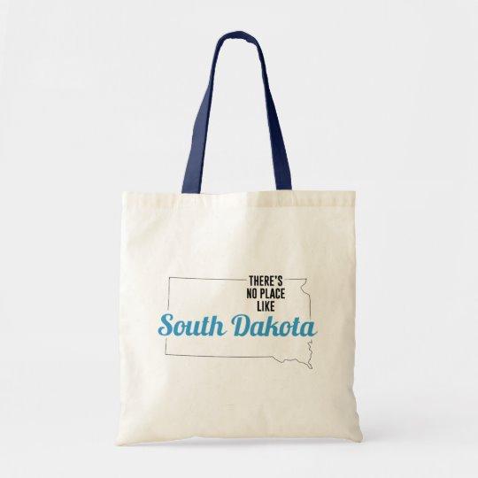 There is No Place Like South Dakota Tote Bag, South Dakota State Holiday Christmas, South Dakota Canvas Grocery Shopping Reusable Bag, South Dakota Home Base by Clotee.com There is No Place Like Home