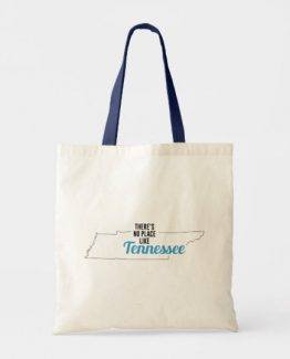 There is No Place Like Tennessee Tote Bag, Tennessee State Holiday Christmas, Tennessee Canvas Grocery Shopping Reusable Bag, Tennessee Home Base by Clotee.com There is No Place Like Home