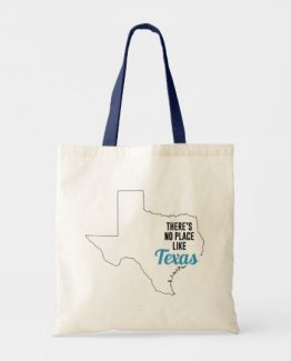 There is No Place Like Texas Tote Bag, Texas State Holiday Christmas, Texas Canvas Grocery Shopping Reusable Bag, Texas Home Base by Clotee.com There is No Place Like Home