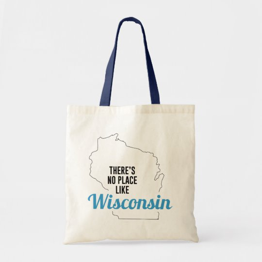 There is No Place Like Wisconsin Tote Bag, Wisconsin State Holiday Christmas, Wisconsin Canvas Grocery Shopping Reusable Bag, Wisconsin Home Base by Clotee.com There is No Place Like Home