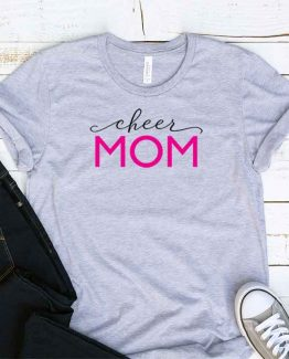 T-Shirt Cheer Mom, Funny Cheer Mama, Cheer Mom Saying Tee, Cheer Shirt Design Ideas, Plus Size Cheer Outfit, Cheer Parents, Cheerleading Apparel. Printed and delivered from USA or UK.