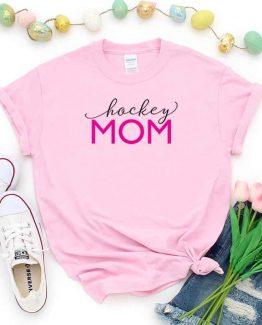 T-Shirt Hockey Mom, Funny Hockey Mama, Hockey Mom Saying Tee, Hockey Shirt Design Ideas, Plus Size Hockey Outfit, Hockey Parents, Hockey Apparel. Printed and delivered from USA or UK.