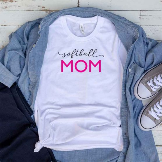T-Shirt Softball Mom, Funny Softball Mama, Softball Mom Saying Tee, Softball Shirt Design Ideas, Plus Size Softball Outfit, Softball Parents, Softball Apparel. Printed and delivered from USA or UK.