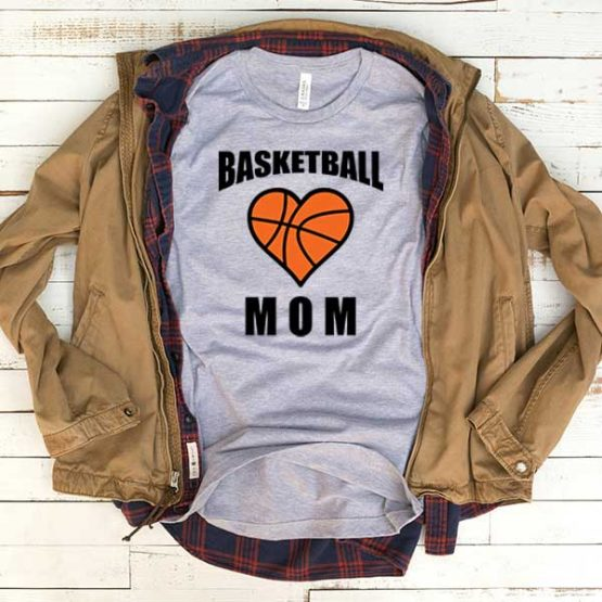 T-Shirt Basketball Mom men women funny graphic quotes tumblr tee. Printed and delivered from USA or UK.