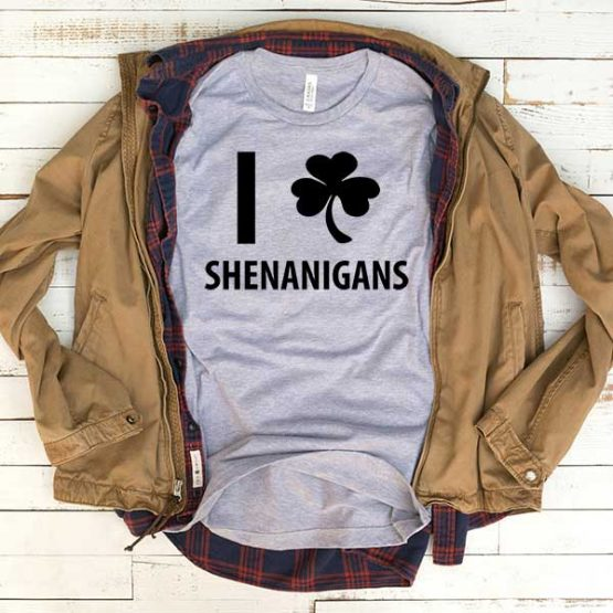 T-Shirt I Lshenanigans men women funny graphic quotes tumblr tee. Printed and delivered from USA or UK.