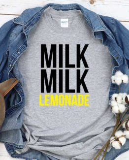 T-Shirt Milk Milk Lemonade men women crew neck tee. Printed and delivered from USA or UK