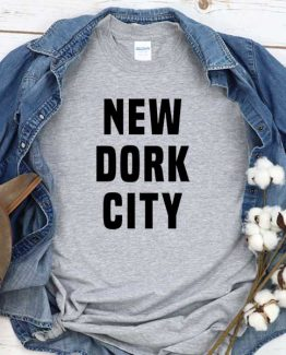 T-Shirt New Dork City men women crew neck tee. Printed and delivered from USA or UK