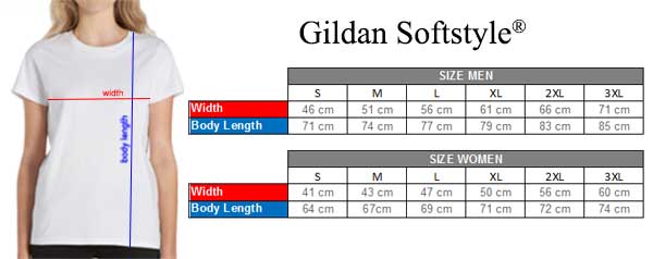 Clotee Size Chart T-Shirt