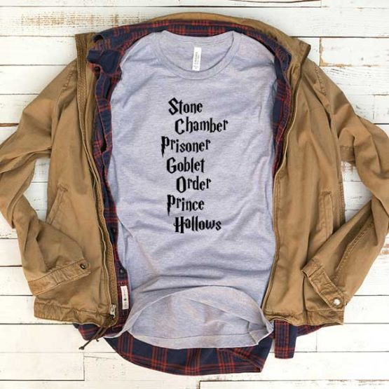 T-Shirt Stone Chamber Prisoner Goblet Order Prince Hallows men women funny graphic quotes tumblr tee. Printed and delivered from USA or UK.