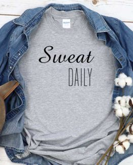 T-Shirt Sweet Daily men women round neck tee. Printed and delivered from USA or UK