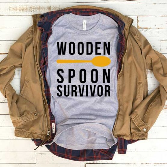 T-Shirt Wooden Spoon Survivor men women funny graphic quotes tumblr tee. Printed and delivered from USA or UK.