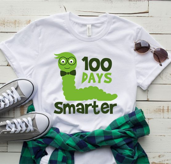 T-Shirt 100 Days Smarter Boy by Clotee.com Aesthetic Clothing
