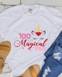 T-Shirt 100 Magical Days Of School by Clotee.com Aesthetic Clothing