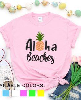 T-Shirt Vacation Aloha Beaches by Clotee.com Aesthetic Clothing