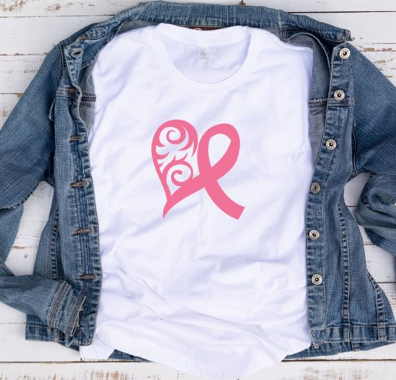 T-Shirt Cancer Awareness Ribbon Filigree by Clotee.com Tumblr Aesthetic Clothing