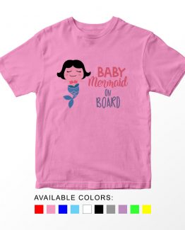 T-Shirt Kids Baby Mermaid On Board by Clotee.com Aesthetic Clothing