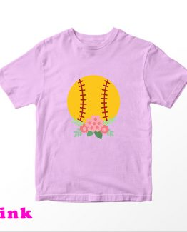 T-Shirt Kids Baseball And Flowers by Clotee.com Aesthetic Clothing