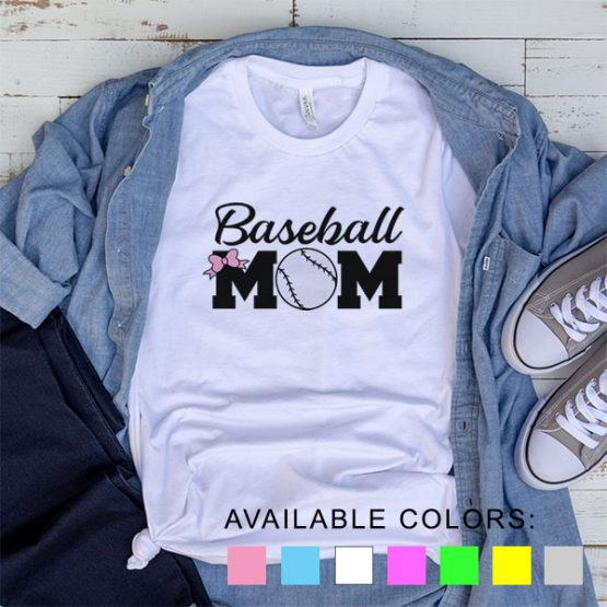 T-Shirt Baseball Mom Fans by Clotee.com Aesthetic Clothing