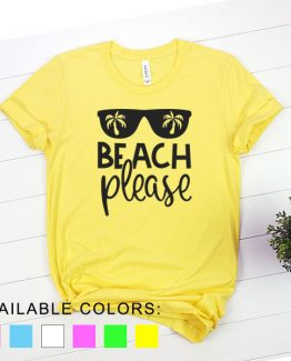 T-Shirt Vacation Beach Please by Clotee.com Aesthetic Clothing