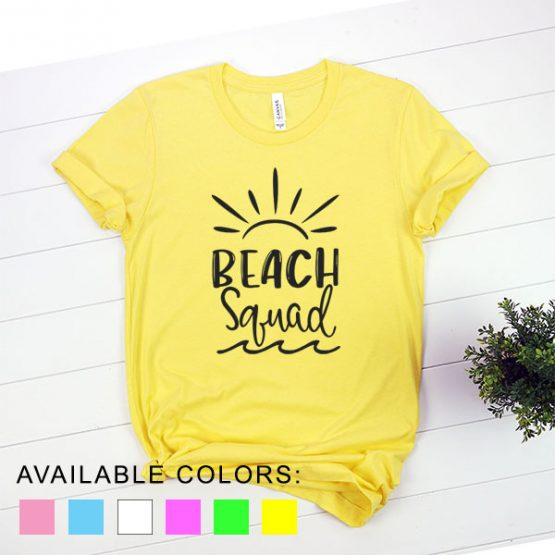 T-Shirt Vacation Beach Squad by Clotee.com Aesthetic Clothing