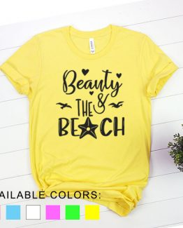 T-Shirt Vacation Beauty And The Beach by Clotee.com Aesthetic Clothing
