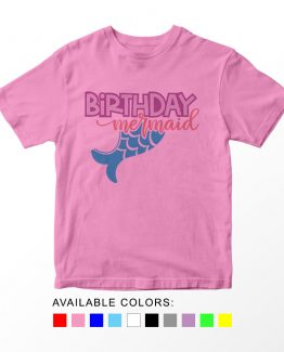 T-Shirt Kids Birthday Mermaid by Clotee.com Aesthetic Clothing