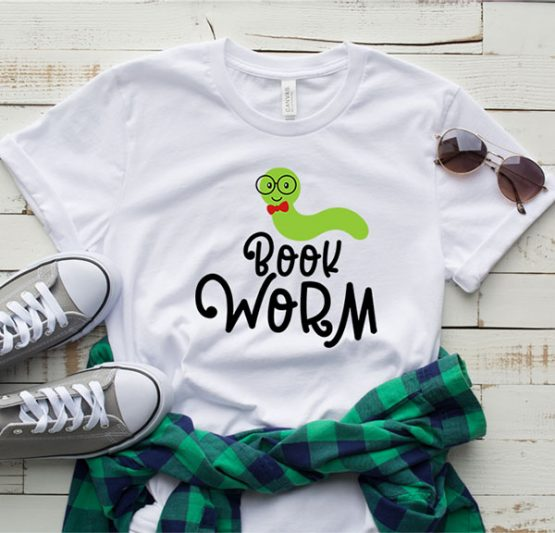 T-Shirt Book Worm by Clotee.com Aesthetic Clothing